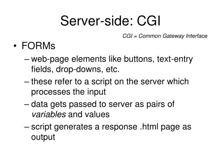 Server-side: CGI
