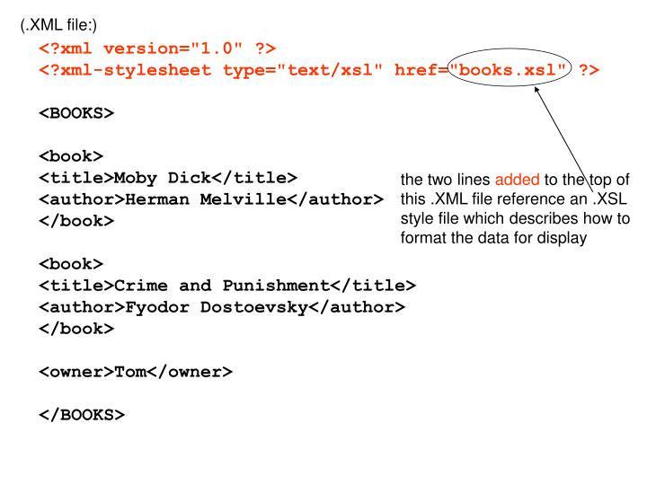 (.XML file:)