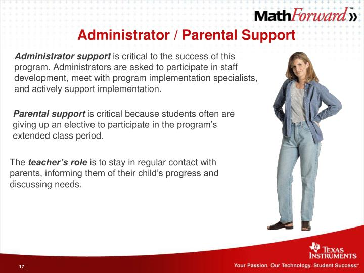 Administrator / Parental Support