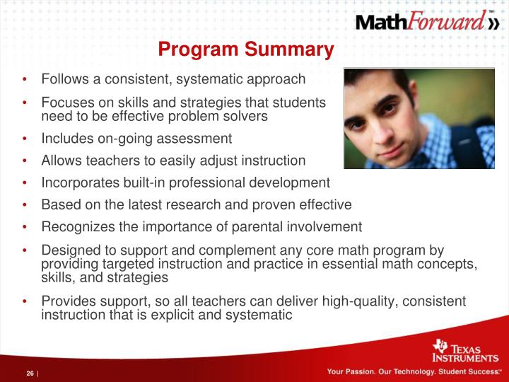 Program Summary