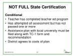 not full state certification1