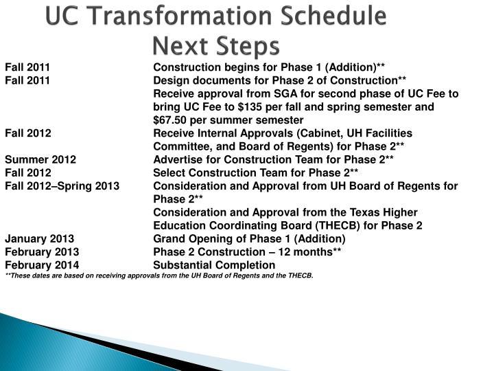UC Transformation