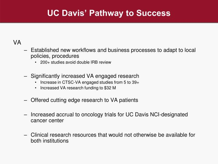 UC Davis' Pathway to Success