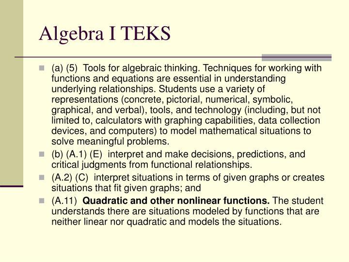 Algebra I TEKS