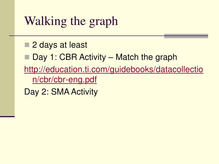 Walking the graph