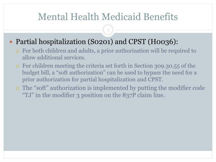 Mental Health Medicaid Benefits