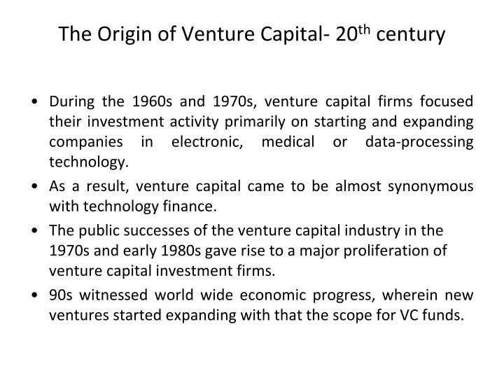The Origin of Venture Capital- 20