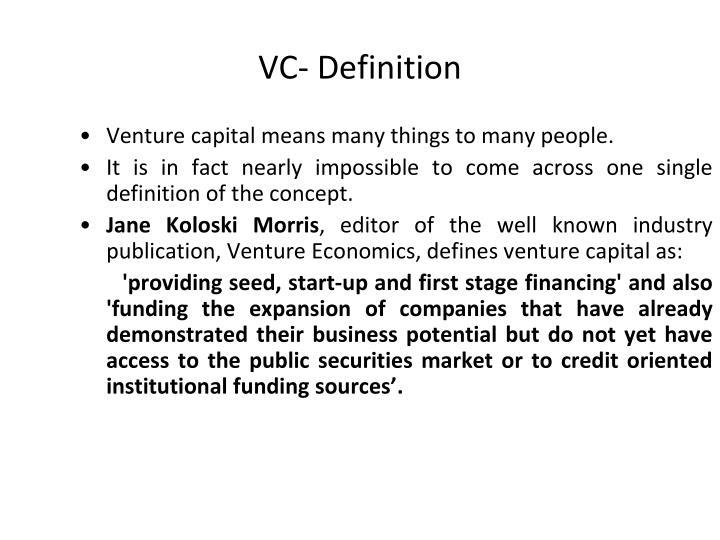 VC- Definition