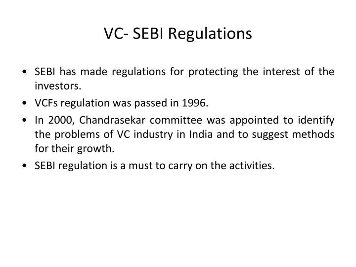 VC- SEBI Regulations