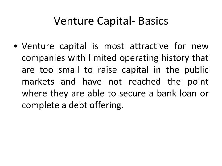 Venture Capital- Basics