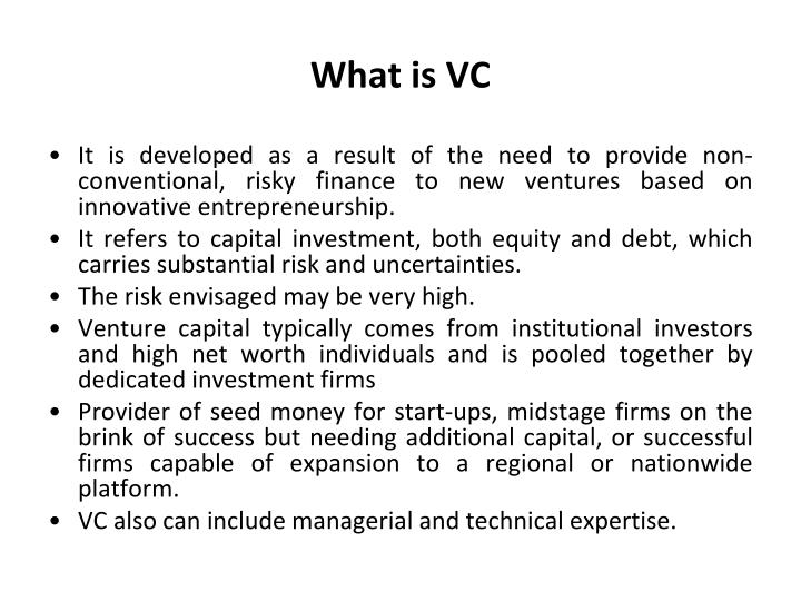 What is VC