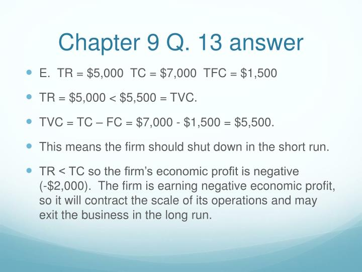 Chapter 9 Q. 13 answer