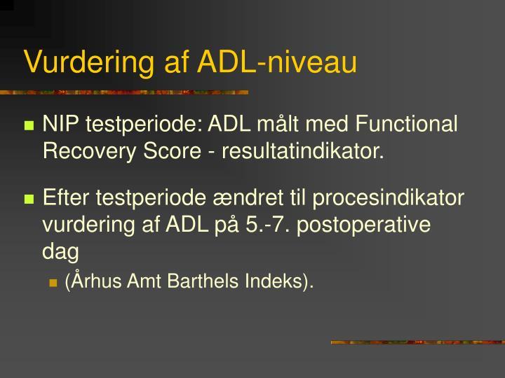 Vurdering af ADL-niveau