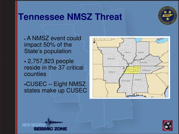Tennessee NMSZ Threat