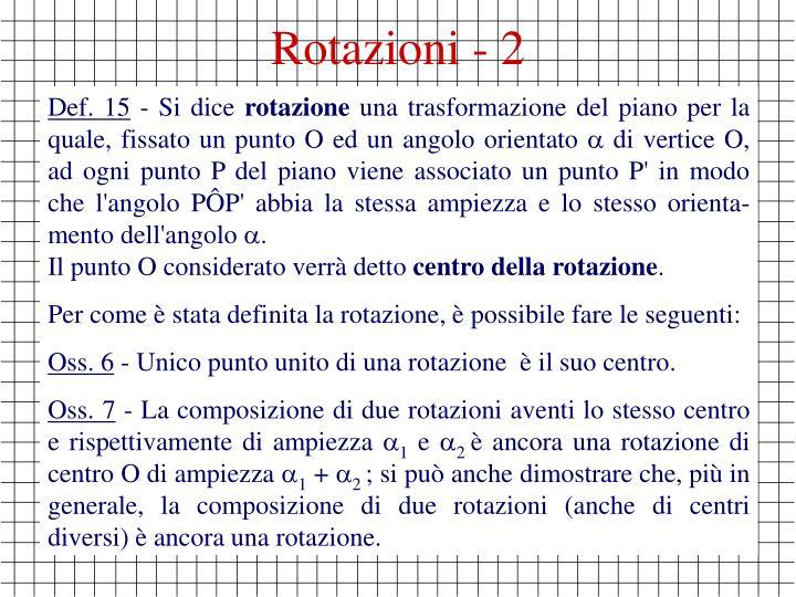 Rotazioni - 2