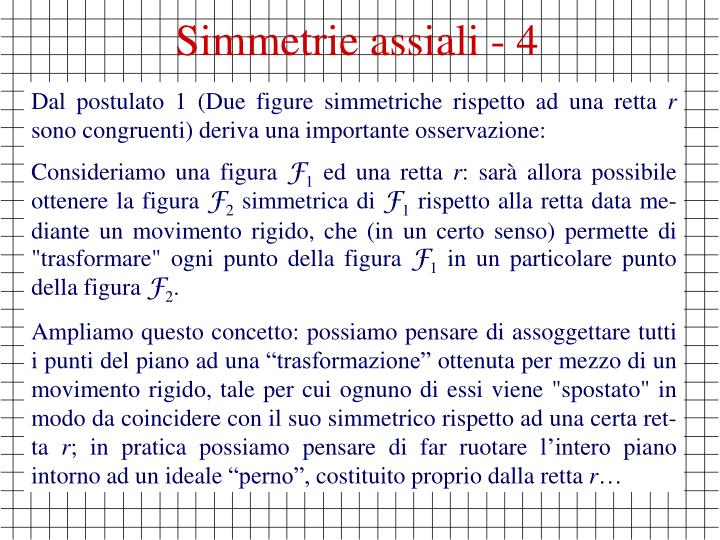 Simmetrie assiali - 4