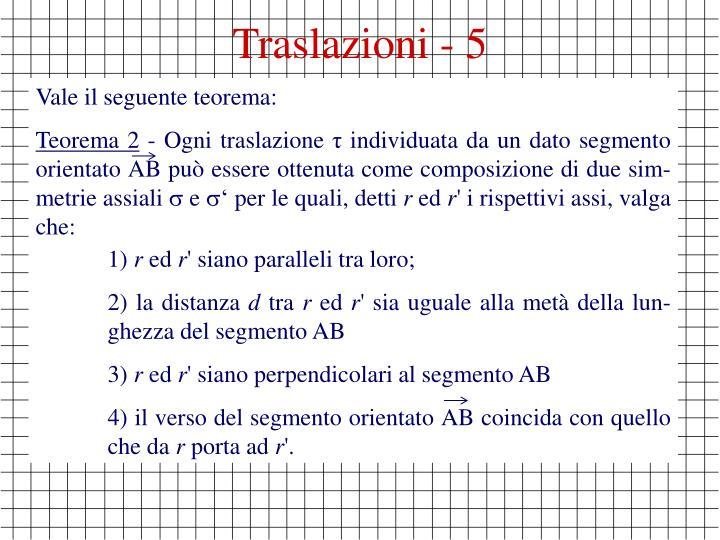 Traslazioni - 5