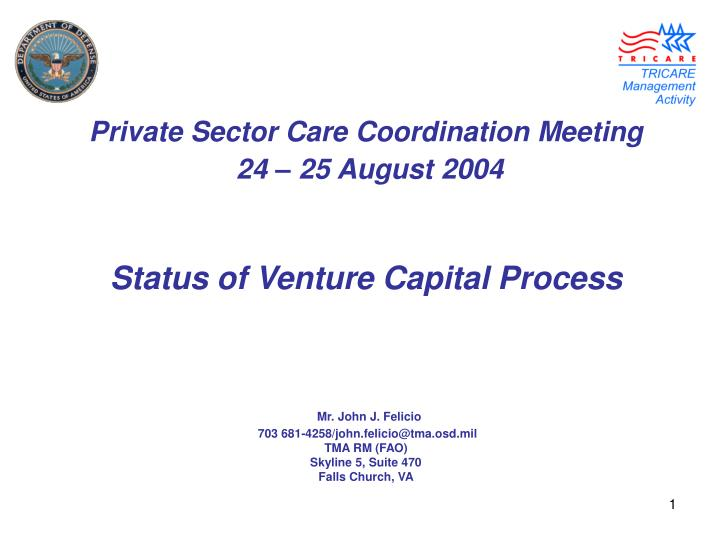 Private Sector Care Coordination Meeting