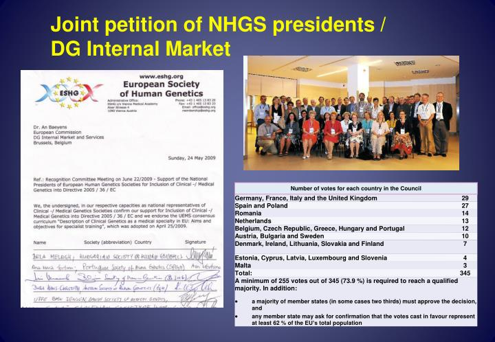 Joint petition of NHGS presidents /
