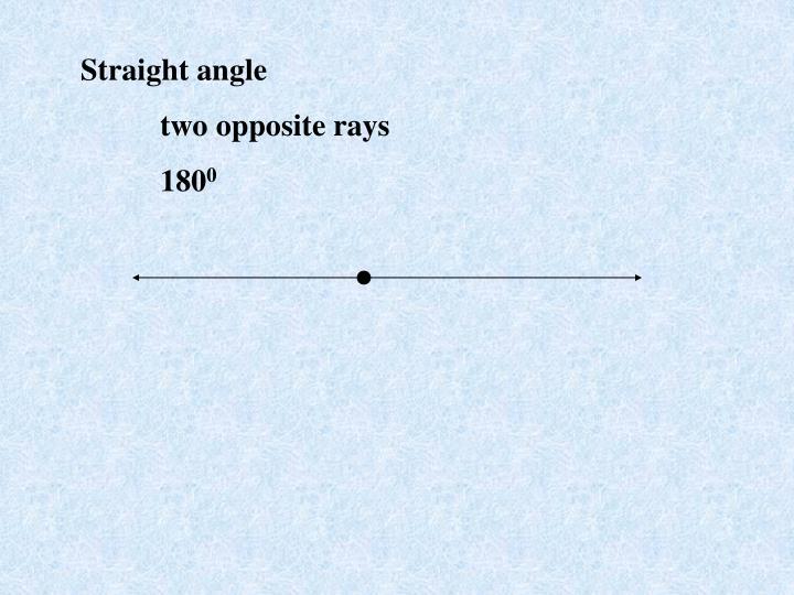 Straight angle