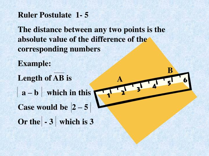 Ruler Postulate  1- 5