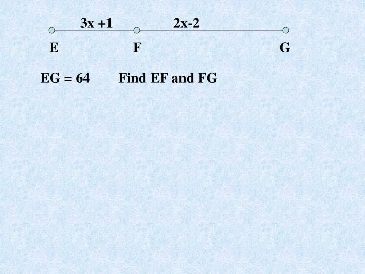 3x +1                 2x-2