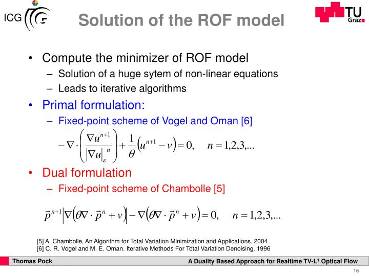 Solution of the ROF model