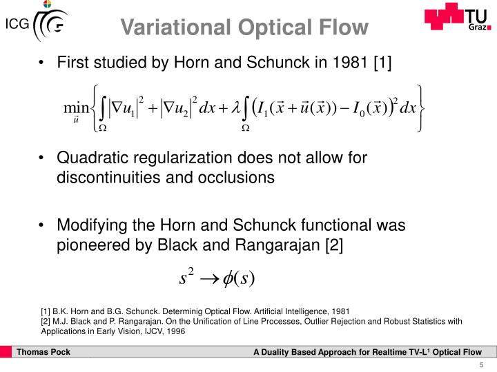Variational Optical Flow