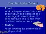 effort certification defined1