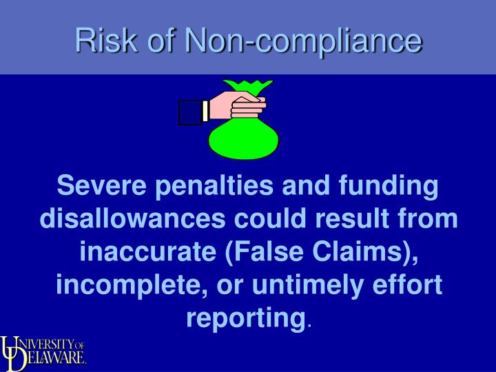 Risk of Non-compliance