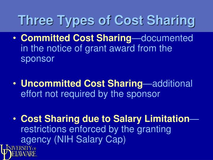 Three Types of Cost Sharing