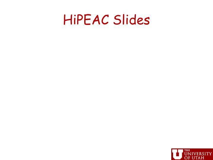 HiPEAC Slides