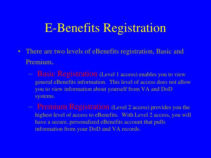 E-Benefits Registration