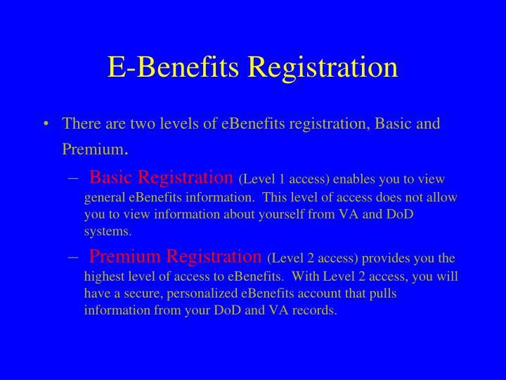 E-Benefits Registration