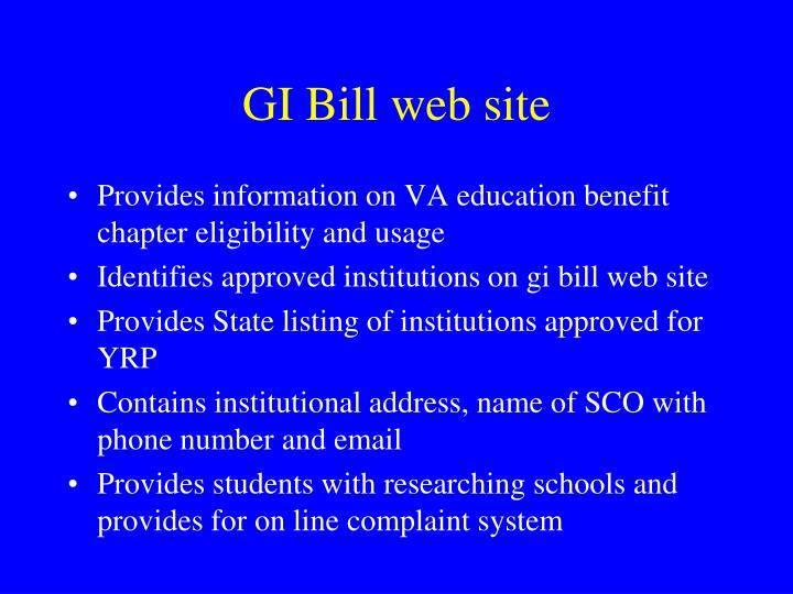 GI Bill web site