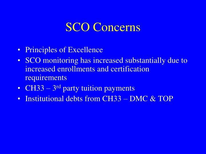 SCO Concerns