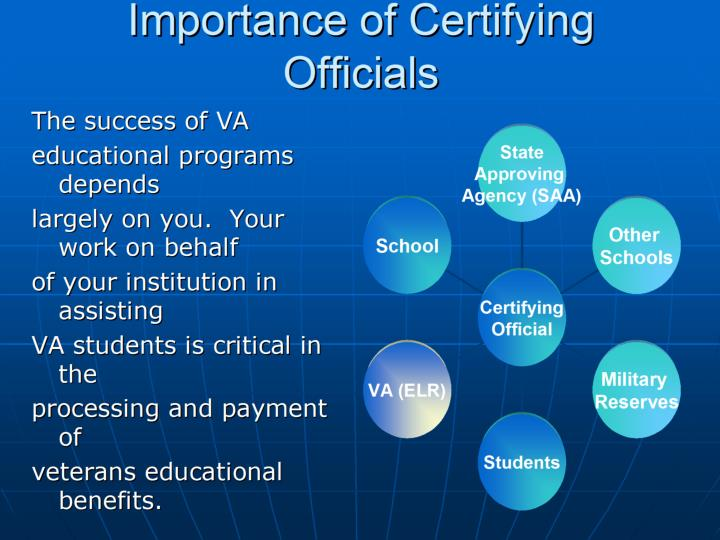 Importance of Certifying Officials