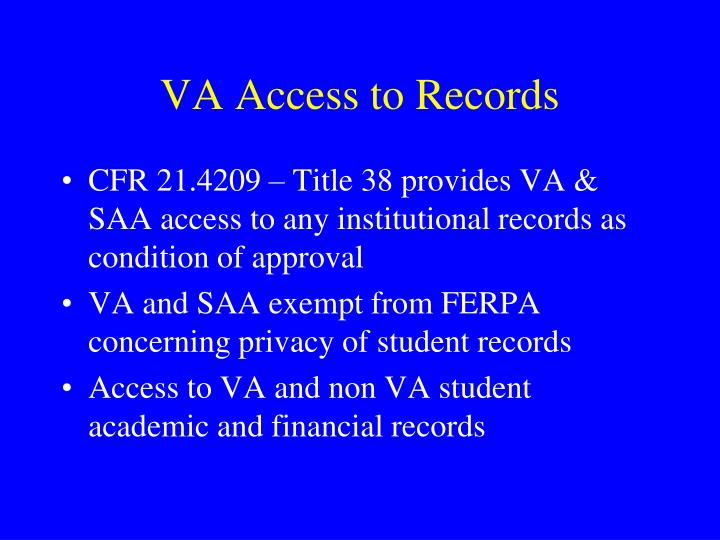 VA Access to Records