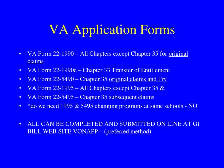 VA Application Forms