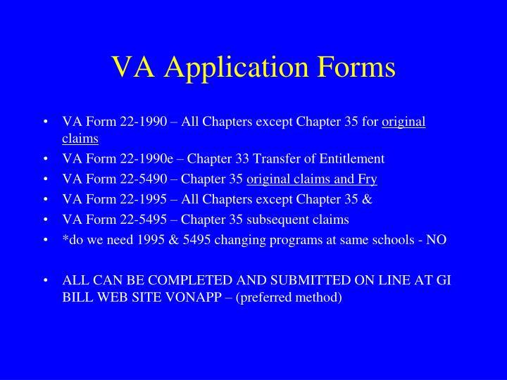 VA Application Forms