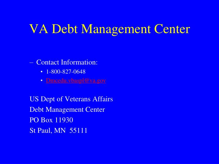 VA Debt Management Center