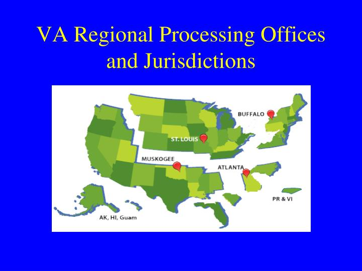 VA Regional Processing Offices and Jurisdictions