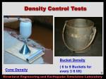 density control tests