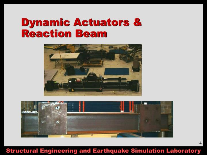 Dynamic Actuators & Reaction Beam