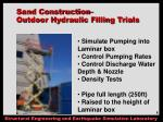 sand construction outdoor hydraulic filling trials