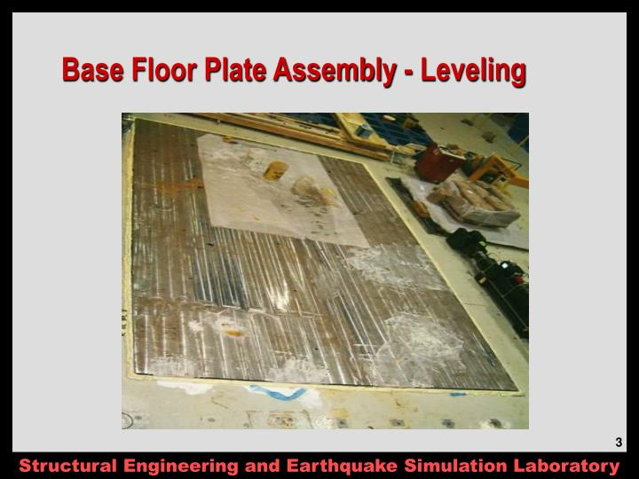 Base Floor Plate Assembly - Leveling