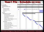 year 1 pile schedule 05 15 06