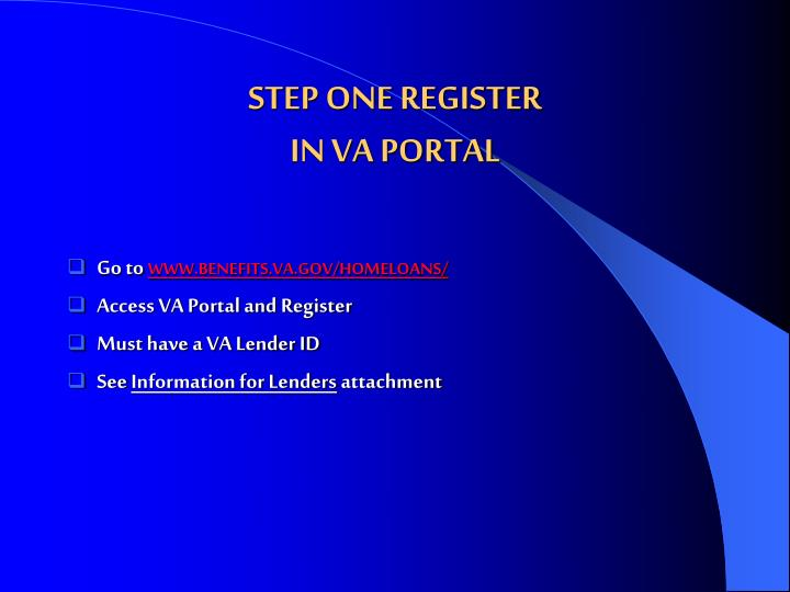 STEP ONE REGISTER
