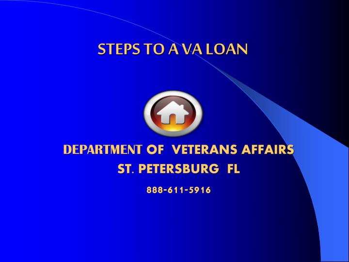 Steps to a va loan