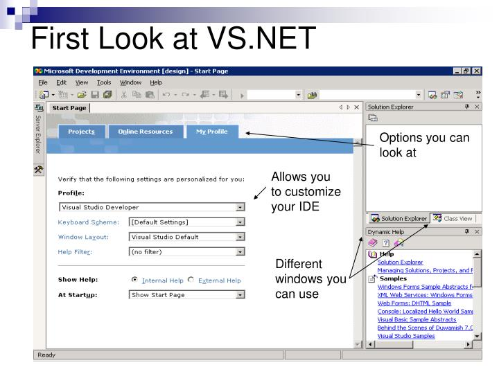 First Look at VS.NET